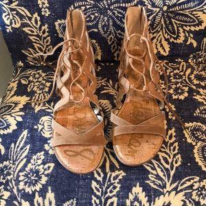 Sam Edelman Ghillie sandals in camel color size 10